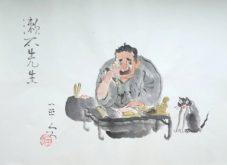 岡本一平「漱石先生」